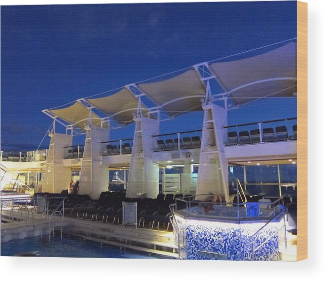 Cruise Wood Print featuring the photograph Caribbean Cruise - On Board Ship - 121237 by DC Photographer