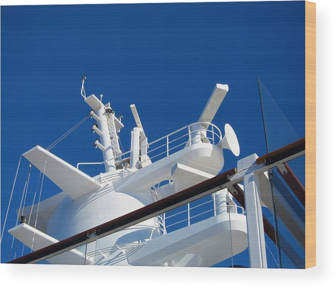 Cruise Wood Print featuring the photograph Caribbean Cruise - On Board Ship - 121263 by DC Photographer