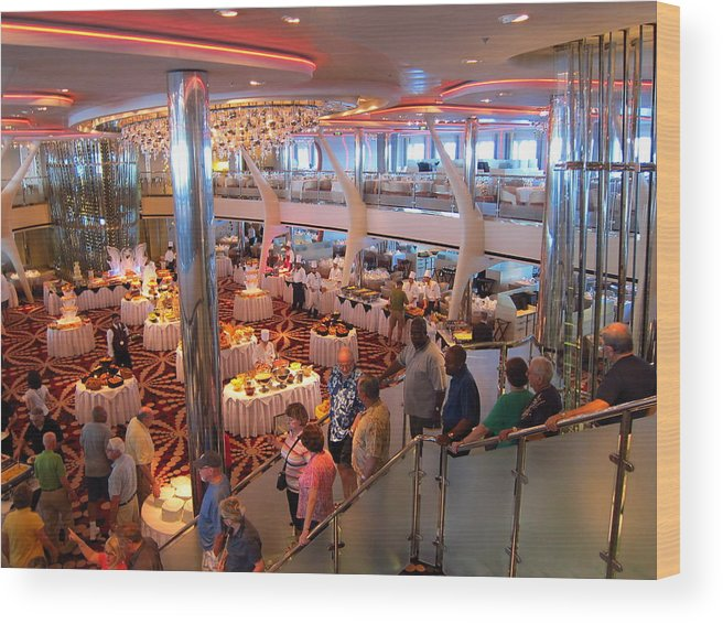 Cruise Wood Print featuring the photograph Caribbean Cruise - On Board Ship - 121271 by DC Photographer
