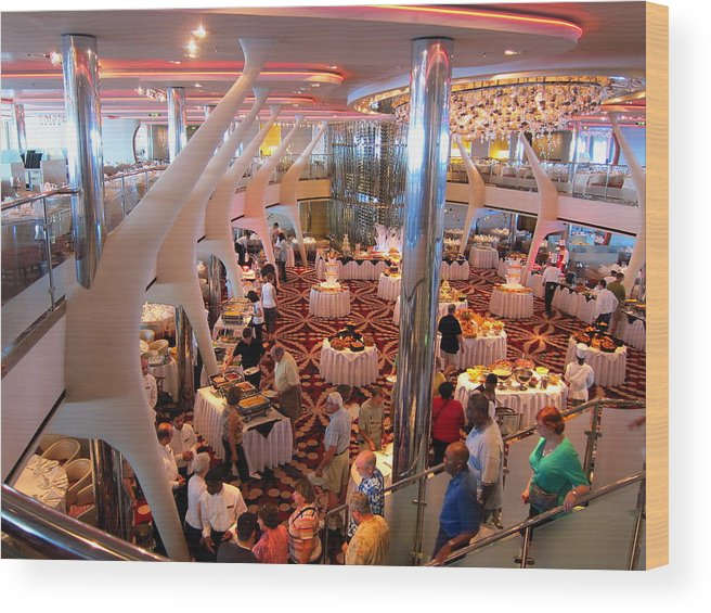 Cruise Wood Print featuring the photograph Caribbean Cruise - On Board Ship - 121272 by DC Photographer