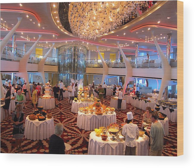 Cruise Wood Print featuring the photograph Caribbean Cruise - On Board Ship - 121275 by DC Photographer
