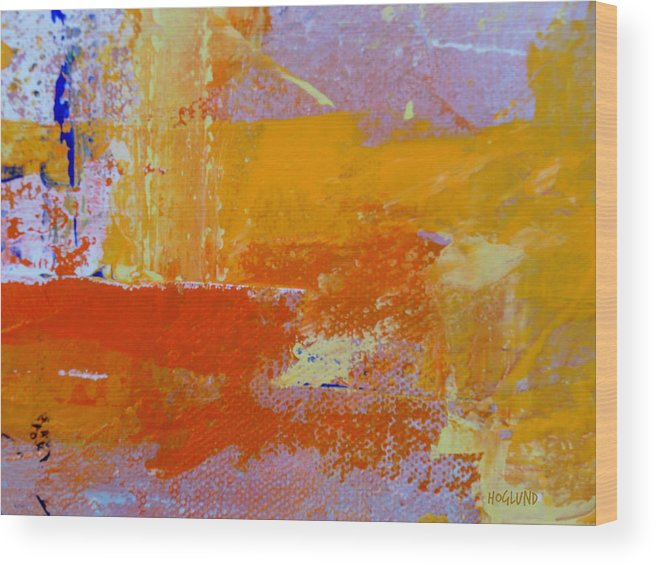 Abstract Painting Wood Print featuring the painting Chatter Three by Dan Hoglund