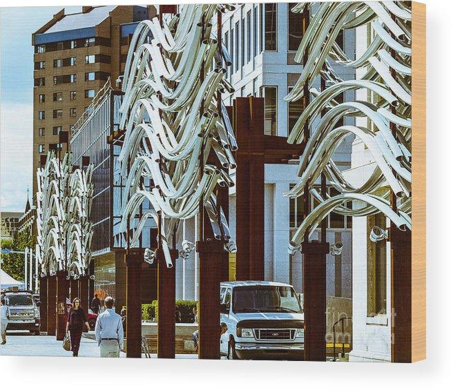 Market Facada Wood Print featuring the photograph City Center-11 by David Fabian