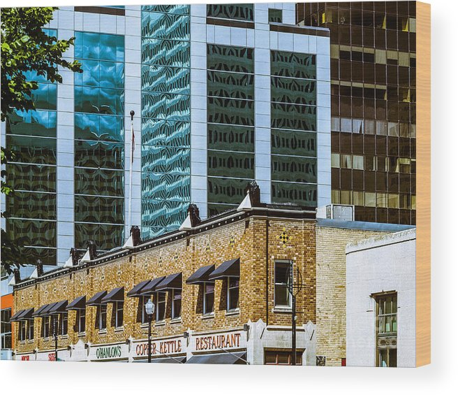 Reflections Wood Print featuring the photograph City Center -66 by David Fabian