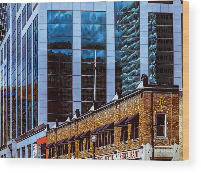 Urban Colour Wood Print featuring the photograph City Center-72 by David Fabian
