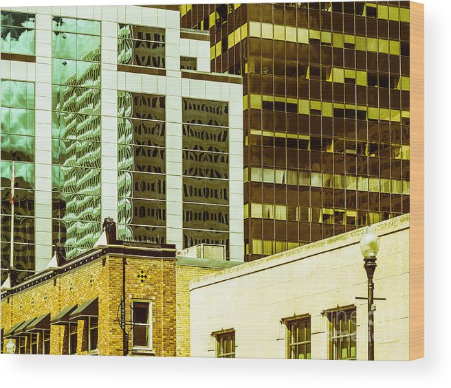Abstract Colour Wood Print featuring the photograph City Center-74 by David Fabian