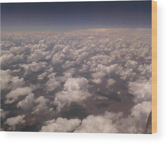 Landscape Wood Print featuring the photograph Clouds by Alleric Enslin