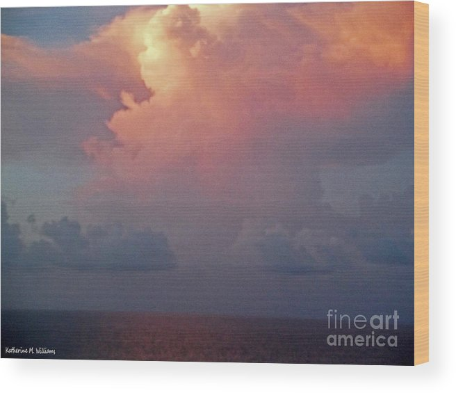 Clouds Wood Print featuring the photograph Clouds by Katherine Williams