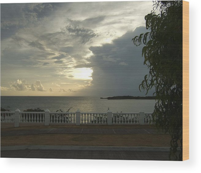 Wood Print featuring the photograph Clouds Over The Sea by Katerina Naumenko