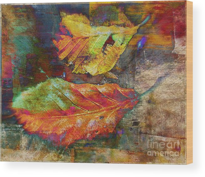 Wood Print featuring the mixed media Colors Of Autumn by Irina Hays