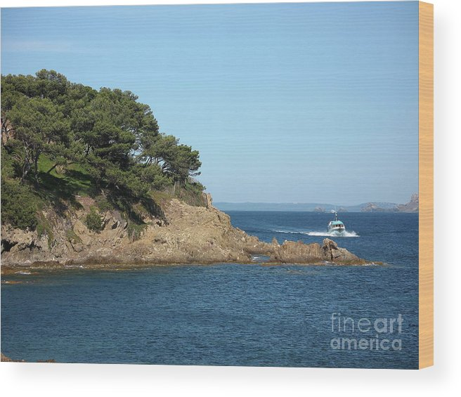 Fishing Boat Wood Print featuring the photograph Coming Back by Christiane Schulze Art And Photography