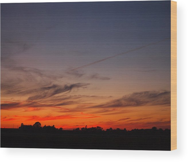 Sunset Wood Print featuring the photograph Country Sunset 2 by William Young