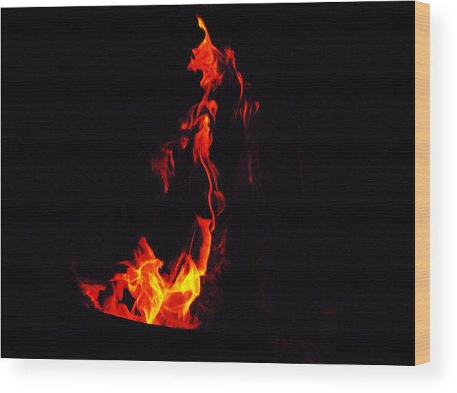 Fire Wood Print featuring the mixed media Dance by Tim Anderson
