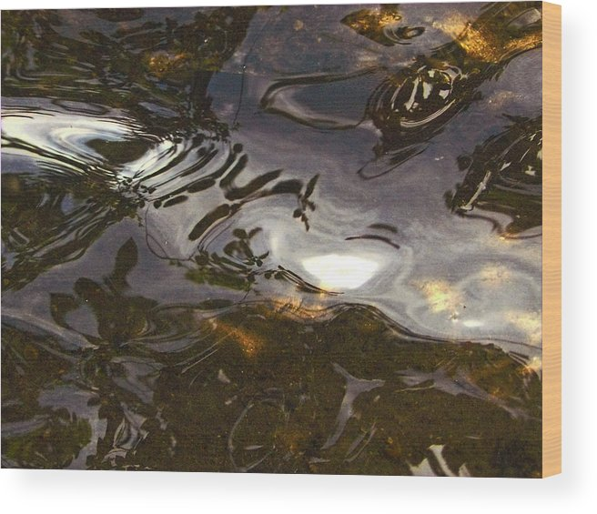 Nature Wood Print featuring the photograph Dancing Water by David Kehrli