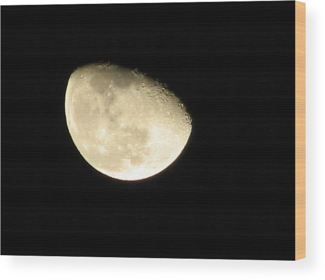 Space Wood Print featuring the photograph Dark Side Of The Moon by Deshagen Photography