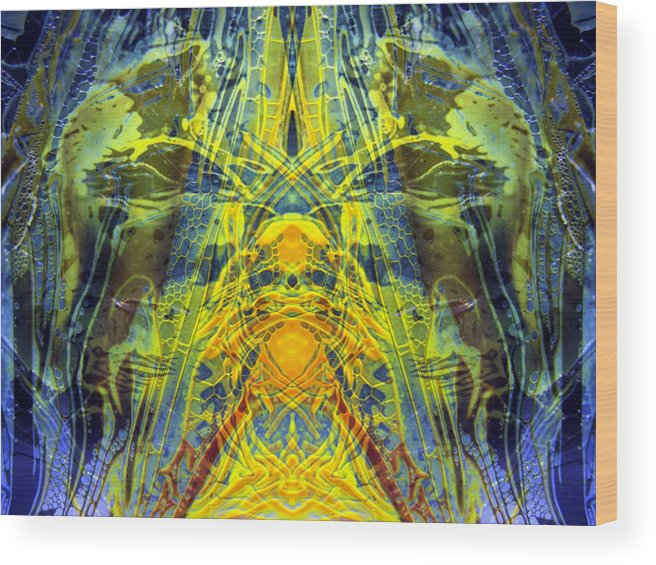 Surrealism Wood Print featuring the digital art Decalcomaniac Intersection 1 by Otto Rapp