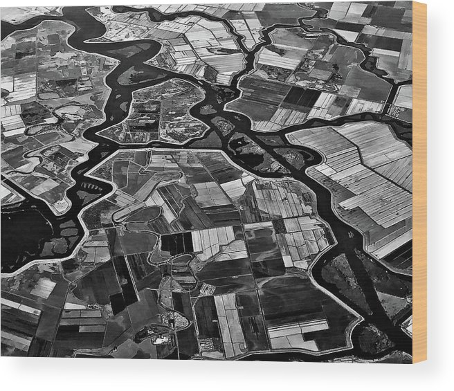 Aerial Wood Print featuring the photograph Delta by Rob Darby