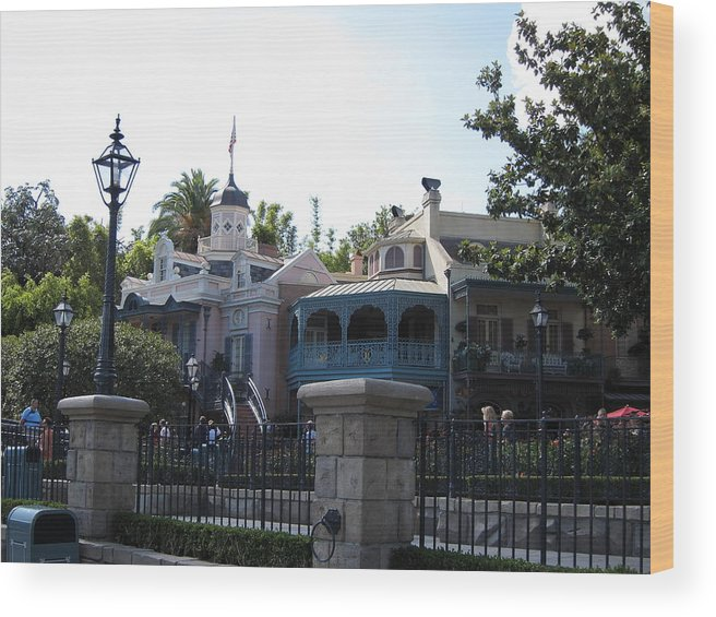 Amusement Wood Print featuring the photograph Disneyland Park Anaheim - 121224 by DC Photographer