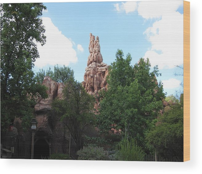Amusement Wood Print featuring the photograph Disneyland Park Anaheim - 121229 by DC Photographer