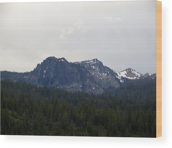 Mountains Wood Print featuring the photograph Distant Peak Of Stone by William McCoy