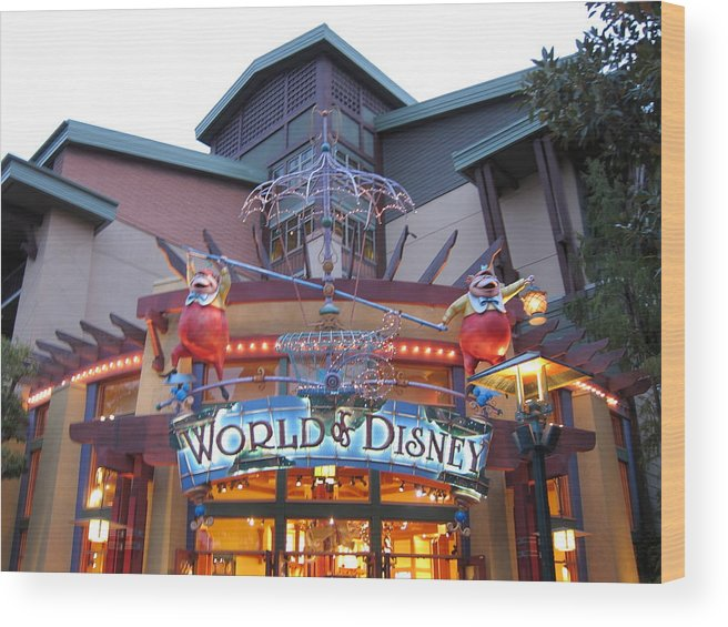 Walt Wood Print featuring the photograph Downtown Disney Anaheim - 121210 by DC Photographer