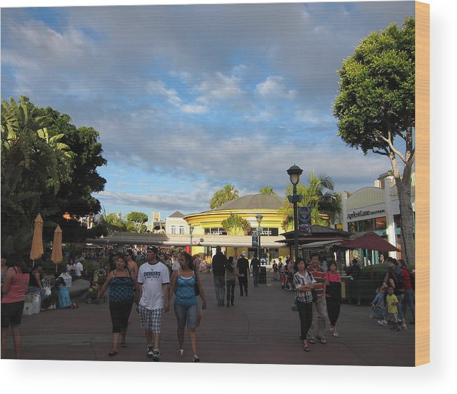 Walt Wood Print featuring the photograph Downtown Disney Anaheim - 12124 by DC Photographer
