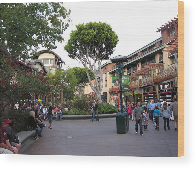Walt Wood Print featuring the photograph Downtown Disney Anaheim - 12128 by DC Photographer
