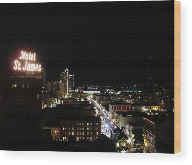 San Diego Wood Print featuring the photograph Downtown Energy by Ashley Van Artsdalen