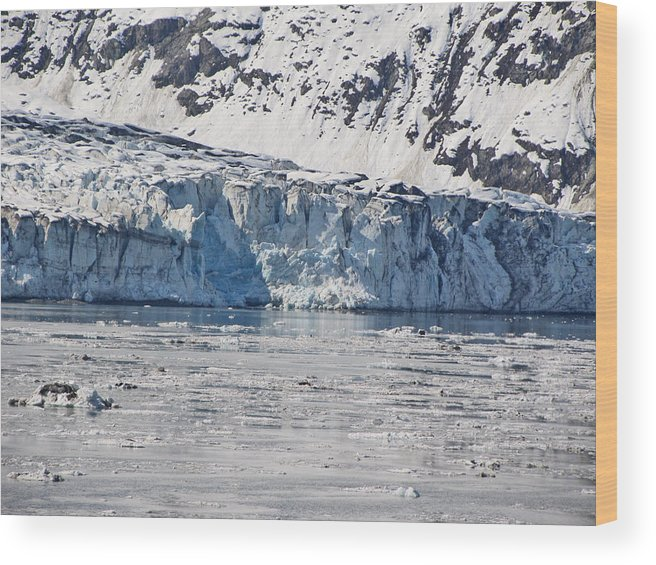 Alaska Wood Print featuring the photograph Falling Glacier by Larry Marano