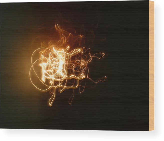 Abstract Light Photography Wood Print featuring the photograph Five Directions by Sheldon Landa