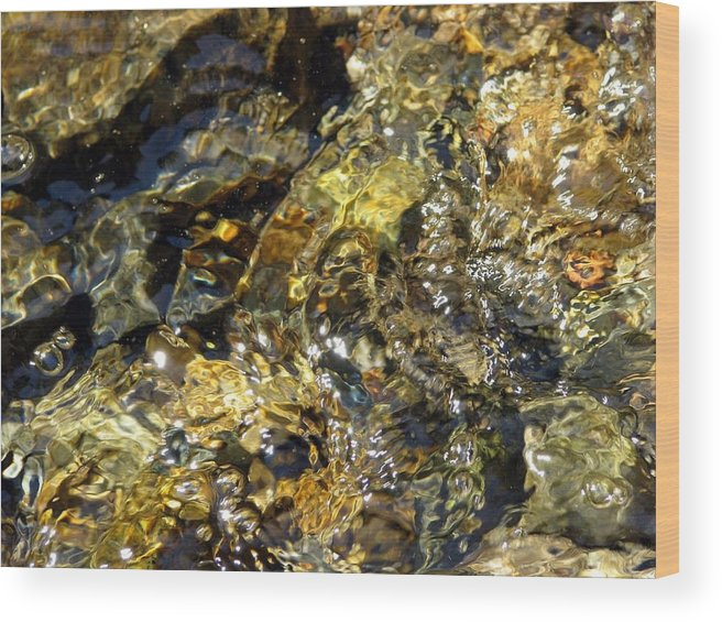 Flowing Gold Wood Print featuring the photograph Flowing Gold by Chris Gudger