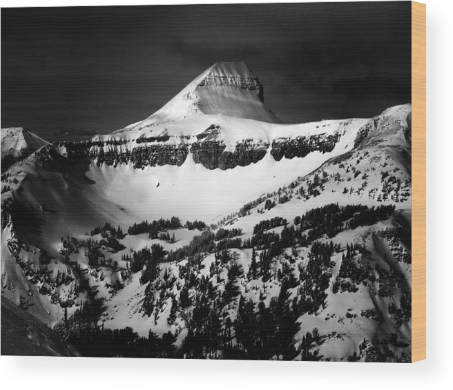Fossil Mountain Is Located In The Teton Range. The Teton Range Is Located In Wyoming As Part Of The North American Rocky Range. Wood Print featuring the photograph Fossil Mountain by Raymond Salani III