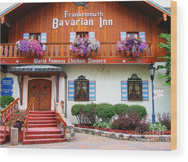 Frankenmuth Wood Print featuring the photograph Frankenmuth Bavarian Inn by Jack Schultz