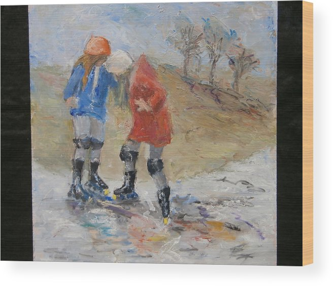 Young Friendships Wood Print featuring the painting Friendship by Bobbie Frederickson