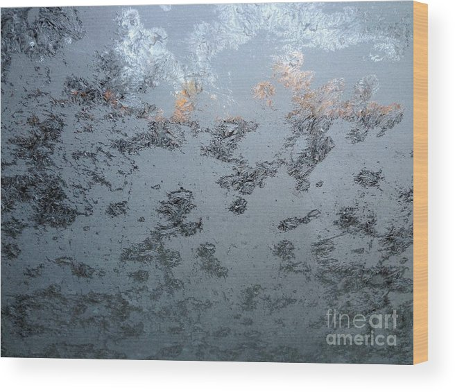 Frost Wood Print featuring the photograph Frost by Cornelia DeDona