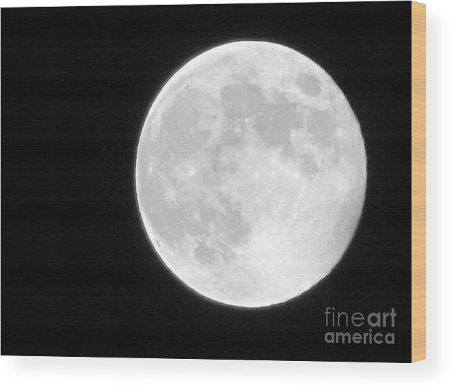 Moon Wood Print featuring the photograph Full Moon by Gayle Melges