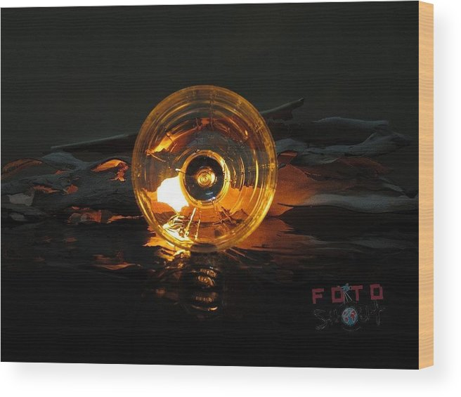 Shining Glass Wood Print featuring the photograph Glass On Shine by Dinesh Prajapati
