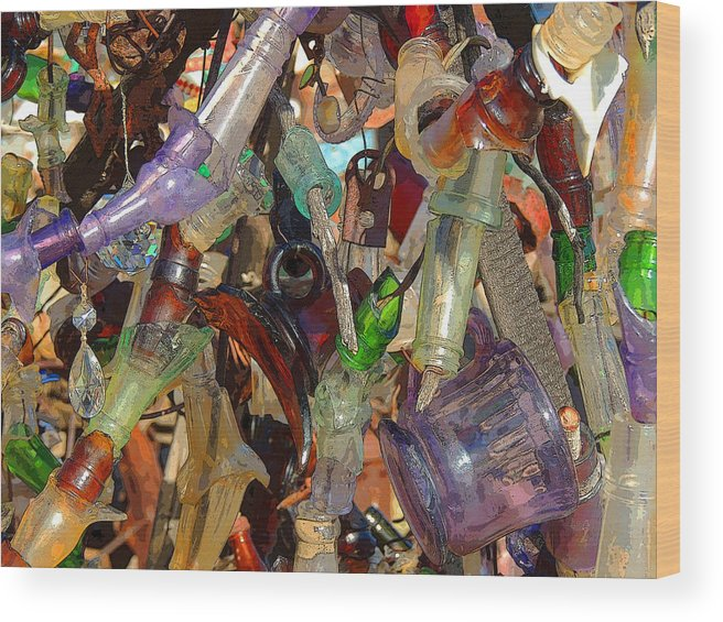 Glass Wood Print featuring the photograph Glass Wall by Donna Lee Young