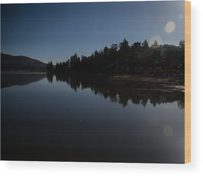 Big Bear Lake Wood Print featuring the photograph Glassy Big Bear by Deanna Kimlinger
