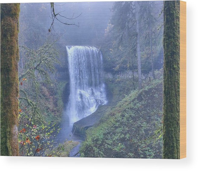 Waterfall Wood Print featuring the photograph Green Paradise by Nick Crawford