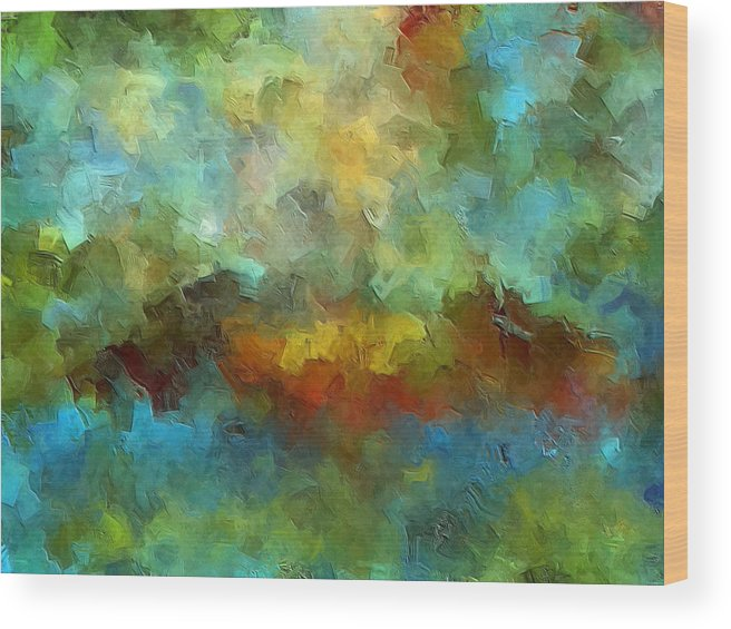 Abstract Art Wood Print featuring the painting Grotto by Ely Arsha