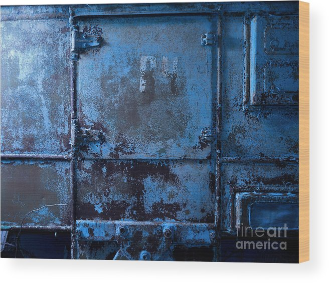 Background Wood Print featuring the photograph Grunge Old Metal Texture by Konstantin Sutyagin