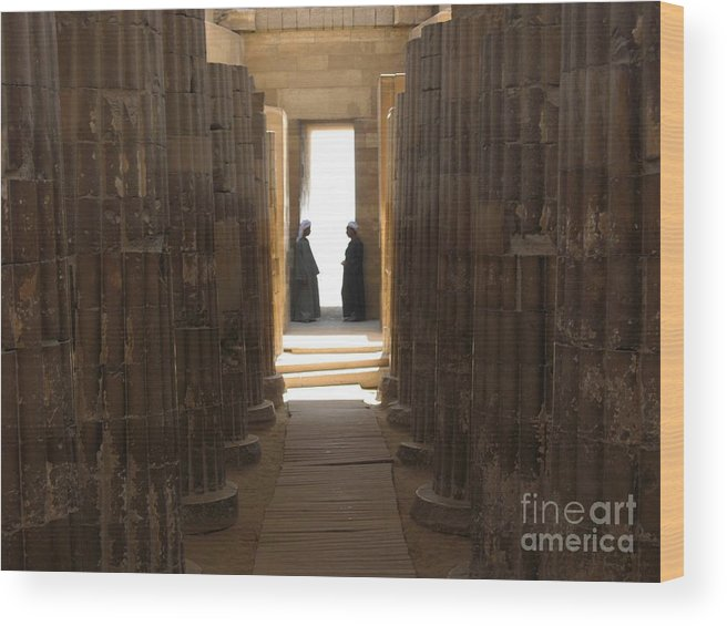 Cairo Wood Print featuring the photograph Guards by Bill Swindell