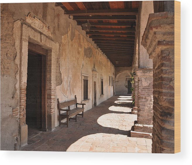 California Missions Wood Print featuring the photograph He Shall Rise Again, Mission San Juan Capistrano, California by Denise Strahm