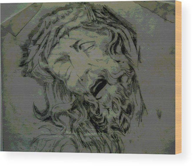 Religious Wood Print featuring the digital art Him by Chad Milburn