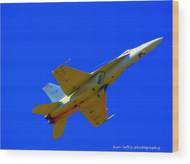 Air Show Wood Print featuring the photograph Hornet by Kim Loftis