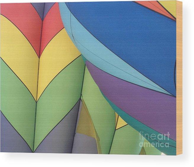 Hot Air Balloon Wood Print featuring the photograph Hot Air Balloons 3 by Jacklyn Duryea Fraizer