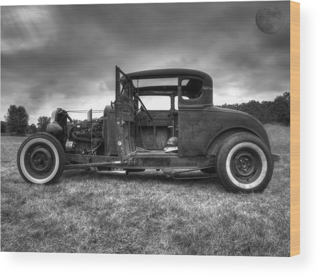 Hot Rod Wood Print featuring the photograph Hot Rod by Thomas Young