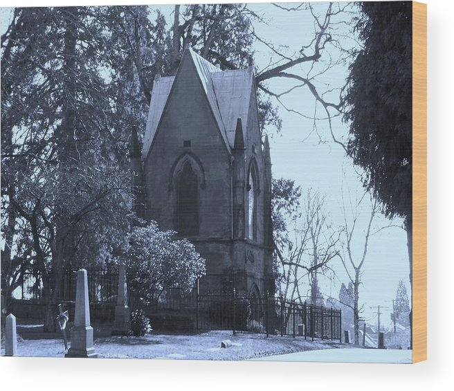 Cemetery Wood Print featuring the photograph House Of Corpses by Heather L Wright