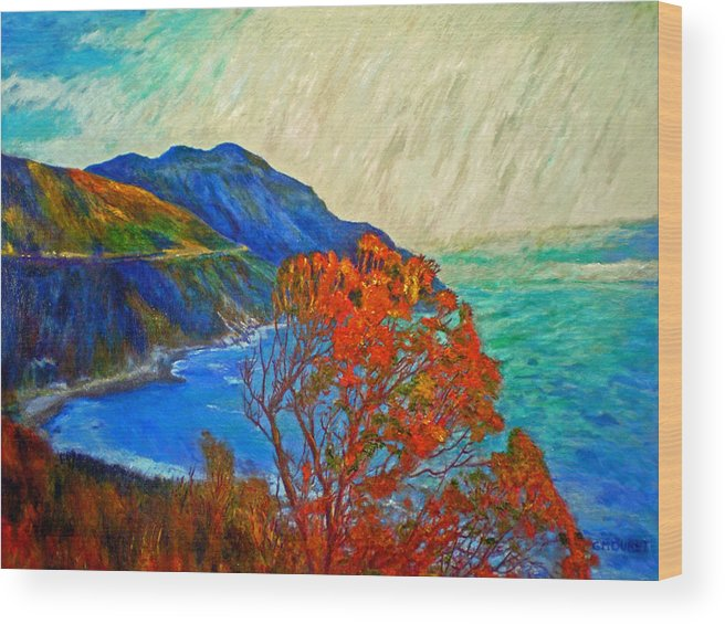 Seascape Wood Print featuring the painting Hout Bay by Michael Durst